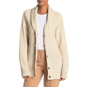 James Perse Natural Beige Button Cardigan Size 2